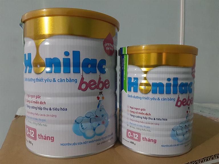 Honilac được nhiều phụ huynh đề cập khi nói về sữa cho trẻ bị còi xương suy dinh dưỡng