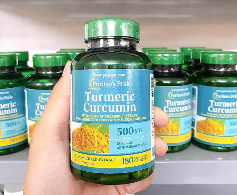Turmeric Curcumin 500mg có nhiều công dụng với sức khỏe và dạ dày